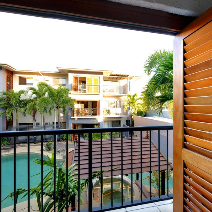 Boutique Cairns City Centre Accommodation Balcony View