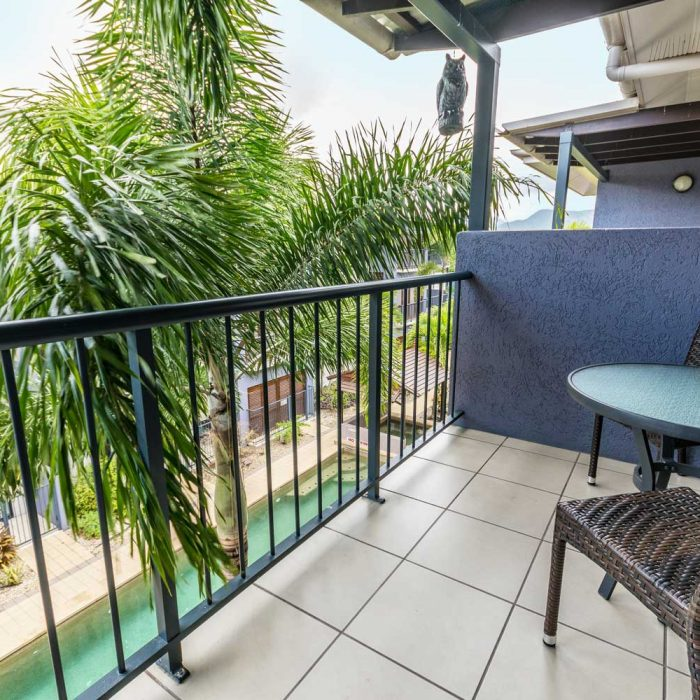 Cairns City Centre Accommodation Balcony View Of Pool